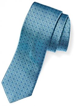 BUTTONED DOWN Men's Classic Silk 3″ Necktie, teal windowpane, Extra Long