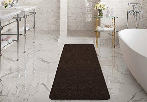 Silk Road Concepts SR-LUX6008-2X6 Collection Shag Bath Runner Rug, 2'2″ x 6′,  ...