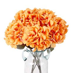 Kimura's Cabin Artificial Flowers Silk Hydrangea Flowers,5 Big Heads Silk Fake Flower Bou ...