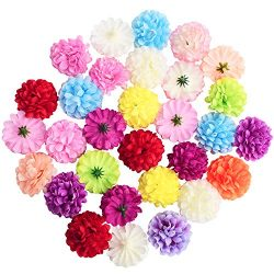 Artificial Flower Heads Artificial Colorful Carnation Flowers Silk Carnation Heads Bulk Festival ...