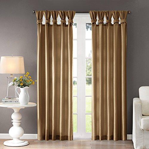 Madison Park Emilia Room-Darkening Curtain DIY Twist Tab Window Panel Black Out Drapes for Bedro ...