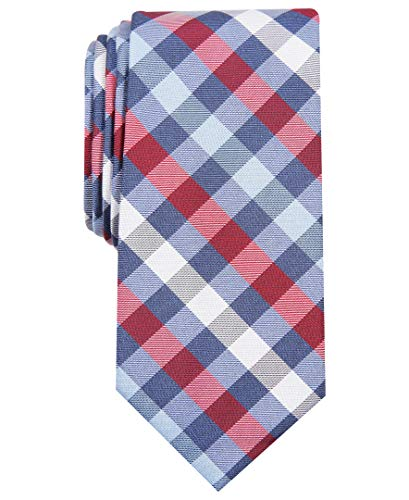Nautica Men's Waves Plaid, Red, One Size