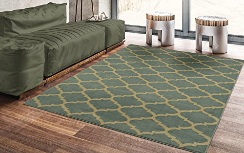 Silk Road Concepts SR-RYL1326-5X7 Collection Contemporary Light Blue Morrocan Trellis Rug, 5R ...
