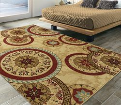 Silk Road Concepts SR-EL5072-5X7 Collection Abstract Rugs, 5'3″ x 7'3″,  ...
