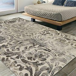 Silk Road Concepts SR-URB4151-5X7 Urban Collection Modern Area Rug, 5'3″ x 7'3 ...