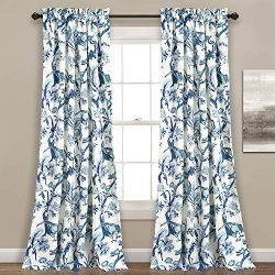 Lush Decor Curtains Dolores Darkening Window Panel Set for Living, Dining Room, Bedroom (Pair),  ...