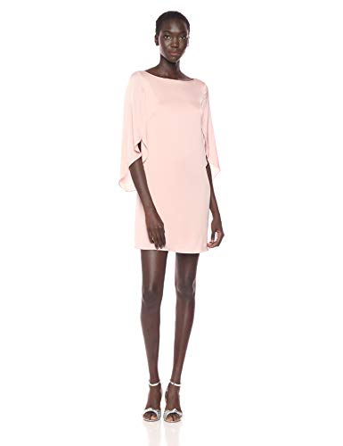 MILLY Women's Stretch Silk Flutter Sleeve Butterfly Mini Dress, Ballet, 8