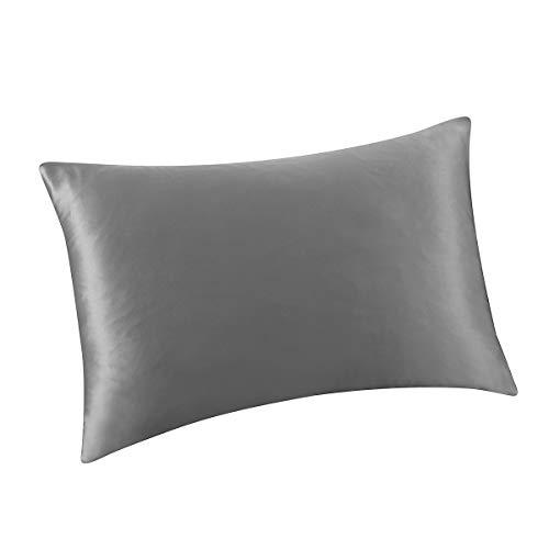 ALASKA BEAR Natural Silk Pillowcase for Hair and Skin 19 Momme 600 Thread Count 100 Percent Hypo ...