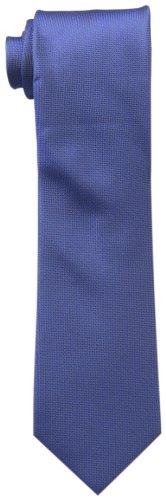 Calvin Klein Men's Silver Spun Solid Tie, Cobalt, Regular