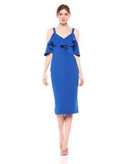RACHEL Rachel Roy Women's Marcella Dress, Silk Blue, L