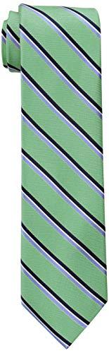 Tommy Hilfiger Men's Stripe Tie, Green, One Size