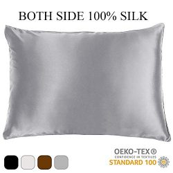 DclobTop 100% Pure Mulberry Silk Pillowcase for Hair and Skin,Both Sides 22 Momme Silk,Both Side ...