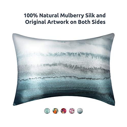 Artovida Premium 100% Natural Mulberry Silk Pillowcase for Hair and Skin, Hypoallergenic. Design ...