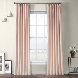 VPYC-161207-108 Heritage Plush Velvet Curtain, 50 x 108, Ballet Pink