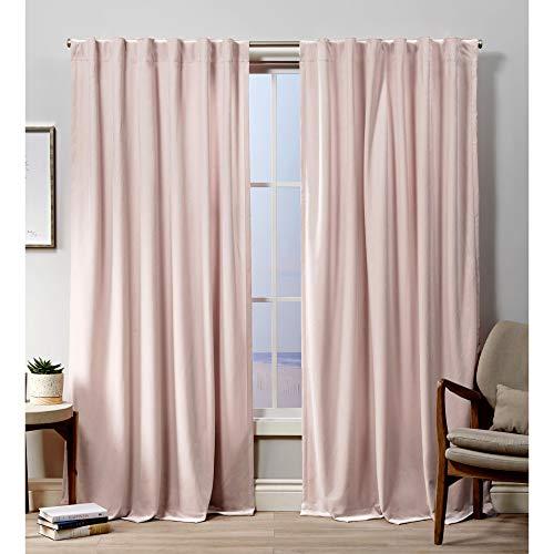 Exclusive Home Curtains Velvet Hidden Tab Top Curtain