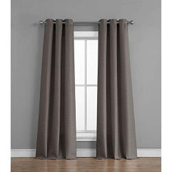 Tribeca Home Raw Faux Silk Curtain Panel Pair, 76 in. x 96 in, Charcoal