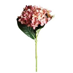 Artificial Lifelike Flower Hydrangea Fake Silk Flower for DIY Home Wedding Party Floral Decor (E ...