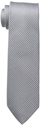Calvin Klein Men's Steel Micro Solid A Tie, silver, X-Long
