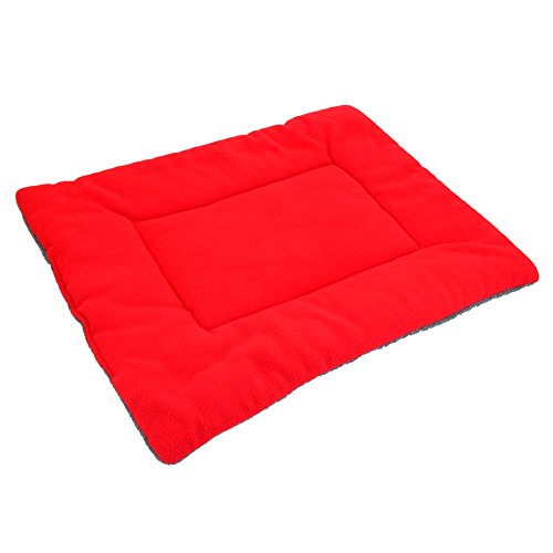 AllRide Washable Soft Comfortable Silk Wadding Bed Pad Mat Cushion for Pet Red S