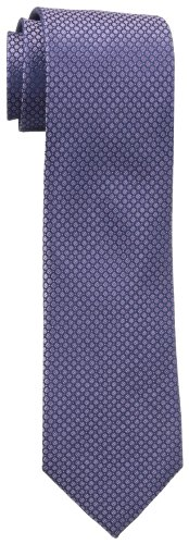 Calvin Klein Men's Steel Micro Solid A Tie, Lavender, Regular