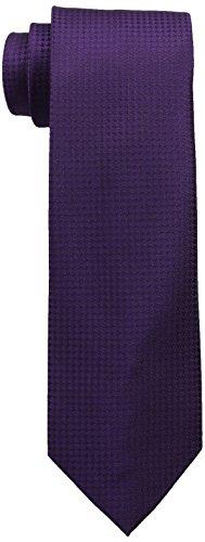 Calvin Klein Men's Hc Modern Gingham Tie, Purple, Regular