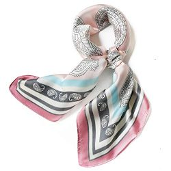 Satin Silk Scarfs for Women 27″ Silky Head Hair Scarf Fashion Neck Scarves Headscarf Bag B ...
