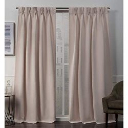 Exclusive Home Curtains Sateen PP Panel Pair, 84″ Length, Blush