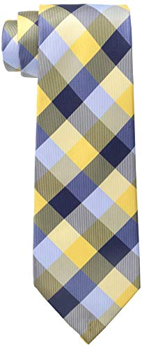 Tommy Hilfiger Men's Buffalo Tartan Tie, Yellow, One Size