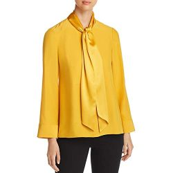 Tory Burch Womens Sophia Silk Sash Blouse