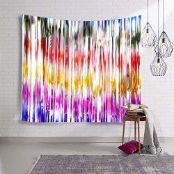 ☀ Dergo ☀1x2M Birthday Party Arrangement Event Scene Decoration Color Rain Silk Curtain