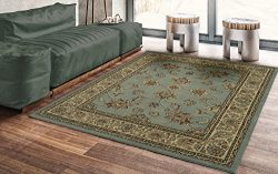 Silk Road Concepts SR-RYL1096-5X7 Collection Traditional Blue Oriental Rugs, 5'3″ x  ...