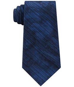 Calvin Klein Mens Watercolor Silk Printed Neck Tie Navy O/S
