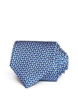Salvatore Ferragamo Men's Blue Rabbit Silk Neck Tie