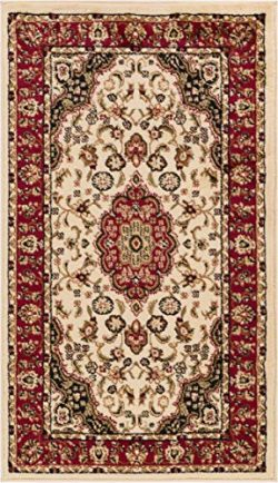 Well Woven Barclay Medallion Kashan Ivory Traditional Area Rug 2'3″ X 3'11""