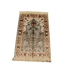 Yilong 2'x3′ Traditional Area Rug Silk Persian Oriental Handmade Carpet Prayer Rug B ...