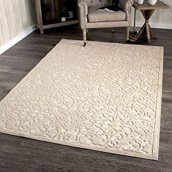 Orian Rugs Boucle Collection 394306 Indoor/Outdoor High-Low Biscay Area Rug, 7'9″ x  ...