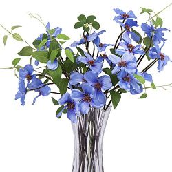 "4Pcs Artificial Flowers,  FENGRUIL 27.5 "" Silk Dogwood  Flowers Bouquet for Home Office Pa ..."