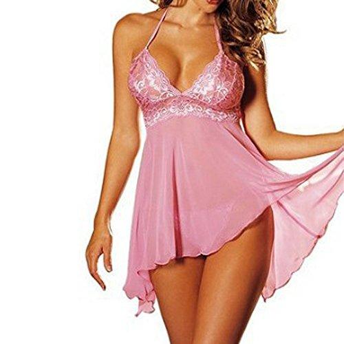 Plus Size Women's Sleepwear, Super Sexy Lingerie Lace Dress Underwear Temptation Nightdres ...