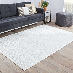 Jaipur Living Linea Abstract White Area Rug (9′ X 12′)