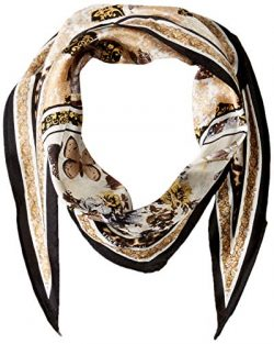 Vince Camuto Women's Splendor and Opulence Printed Kite Scarf, black Gold, One Size