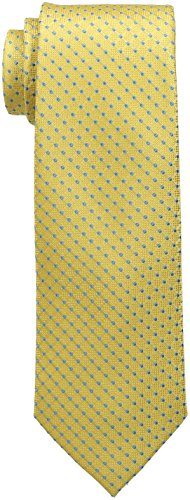 Tommy Hilfiger Men's Connected Dot Tie, Yellow, One Size