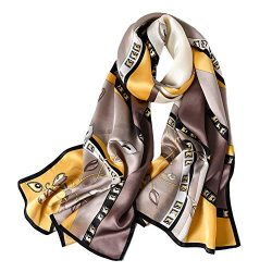 STORY OF SHANGHAI Womens 100% Mulberry Silk Head Scarf For Hair Ladies Silk Floral Head Scarfs
