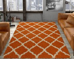 Silk Road Concepts SR-SHG2271-3X5 Collection Moroccan Shag Rugs, 3'3″ x 4'7 ...