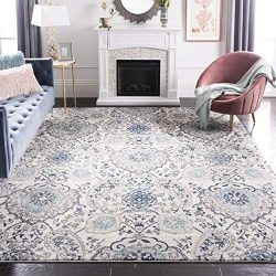 Safavieh Madison Collection MAD600C Cream and Light Grey Bohemian Chic Paisley Area Rug (6' ...