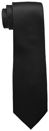 Tommy Hilfiger Men's Skinny Solid Tie, Black, One Size