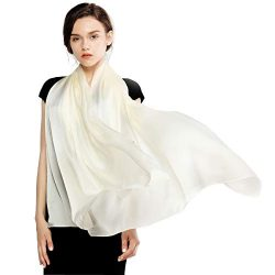 RIIQIICHY Silk Scarf for Women Feeling Silk Sunscreen Long Large Lightweight Satin Shawl Wrap He ...