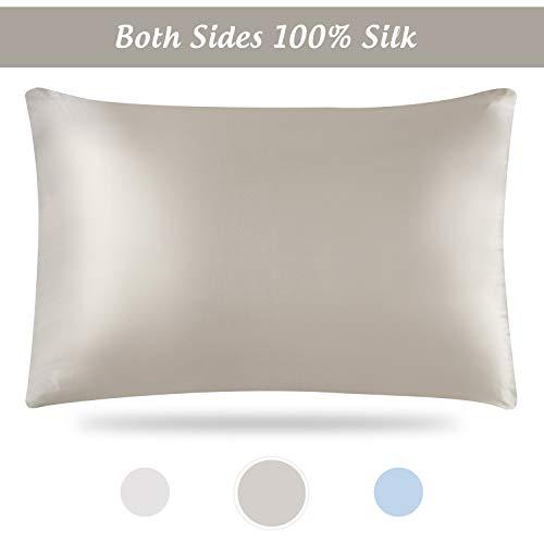 Silk Pillowcase, Silk Pillowcase for Hair and Skin, Silk Pillowcases, Silk Pillowcase Standard S ...