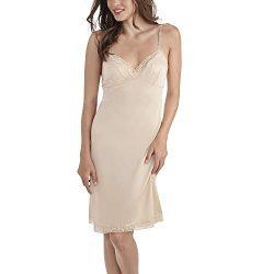 Vanity Fair Women's Rosette Lace Full Slip 10103, Damask Neutral, 38 Bust (26″ Length)