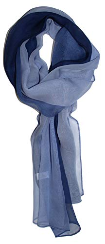 Ted and Jack – Silk Ombre Lightweight Accent Scarf (Celtic Blues)