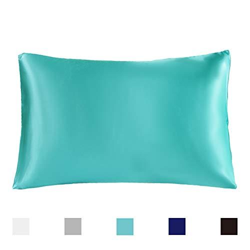 AUTOOK Silk Pillowcase, 100% Pure Natural Satin Pillowcase, 1-Pack – Standard Size (20 ...